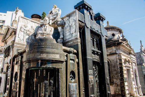 Tombs  Cementerio de la Recoleta, Buenos Aires, Argentina,
