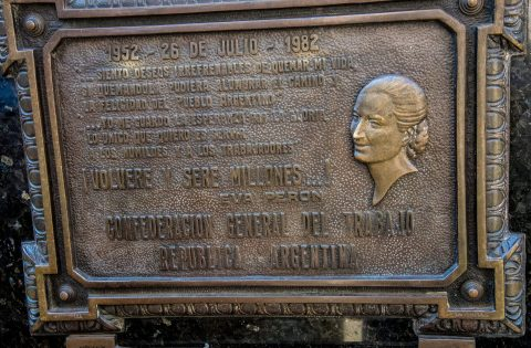 Evita's tomb,  Cementerio de la Recoleta, Buenos Aires, Argentin