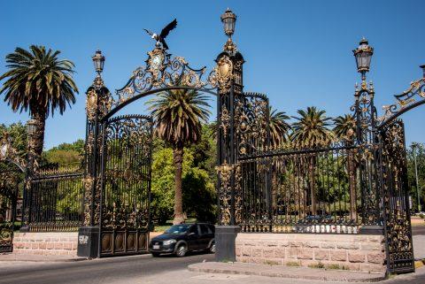 Parque San Martin gate, Mendoza, Argentina