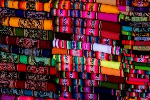 Purmamarca  - local textiles - Argentina