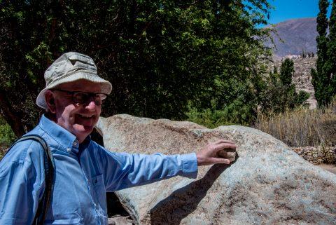 Bell stone, Pucara de Tilcara, Humahuaca Gorge, Argentina