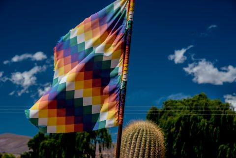 Indigenous flag (north west), Humahuaca, Argentina