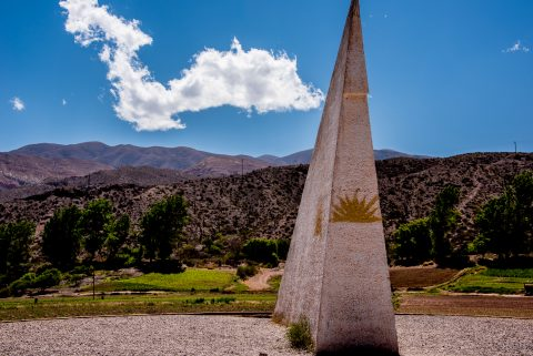 Tropic of Capricon line, Humahuaca Gorge, Argentina
