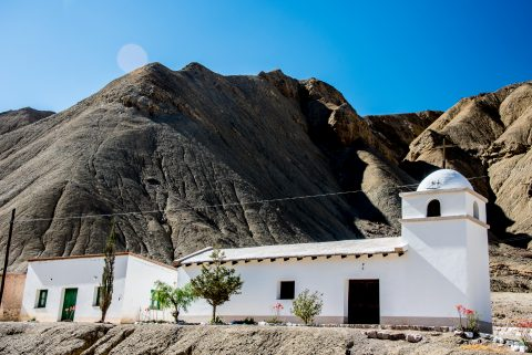 Church and School, La Cienaga near Purmamarca, Argentina