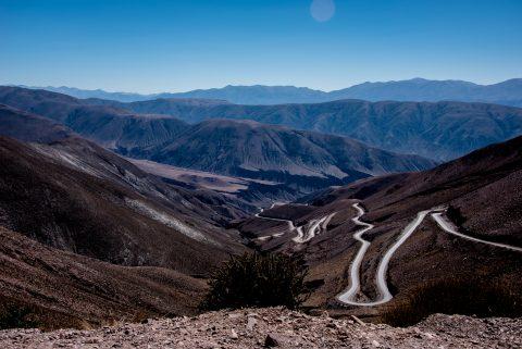 Road from Purmamarca to Salinas Grandes, Argentina