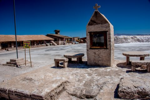 Salt shrine, Salinas Grandes, Altiplano, Argentina