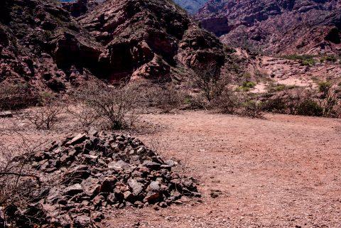 Quebrada de las Conchas  - with shrine - Argentina