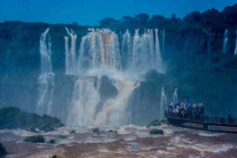 Catwalk at Iguazu Falls from Brazil