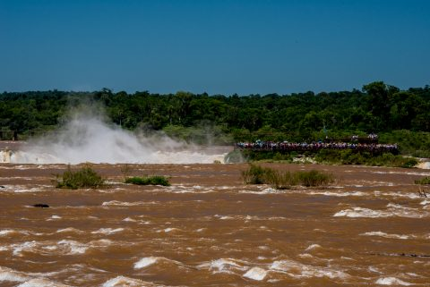 Garganta del Diablo catwalk, Iguazu Falls from Brazil