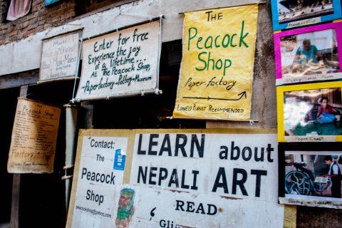 Shop signs, Bhaktapur, Nepal