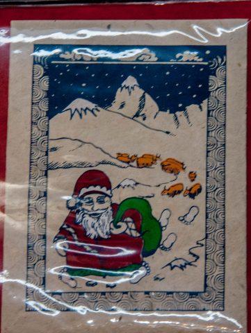 Christmas cards, Bhaktapur, Nepal