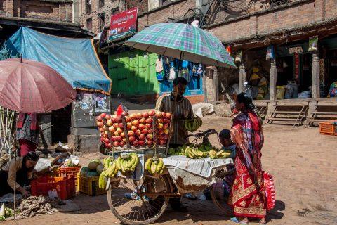 Market, Durbar Square, Bhaktapur,  Nepal