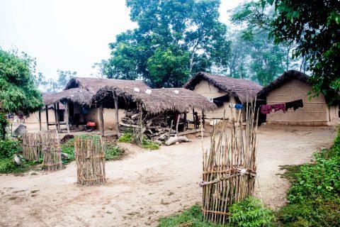 Village in Royal Chitwan National Park, Nepal