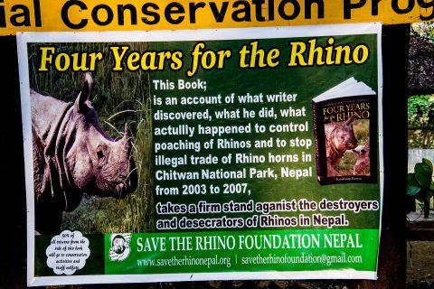 Rhino poster,  Royal Chitwan National Park, Nepal