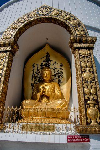 World Peace Pagoda Buddha, Pokhara, Nepal