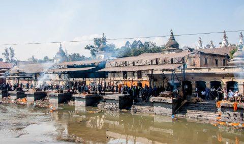 Pashupatinath Temple ghats, Kathmandu,  Nepal