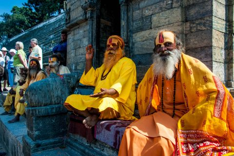 Pashupatinath Temple Sadhus, Kathmandu,  Nepal