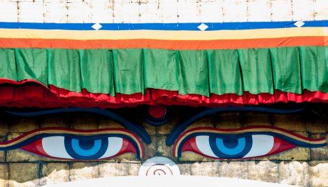 Boudhanath Stupa - the eyes -, Kathmandu, Nepal