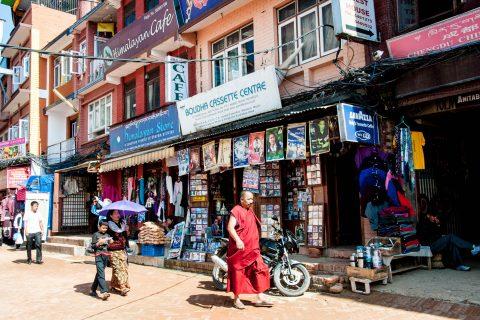 Tibetan shops, Kathmandu, Nepal