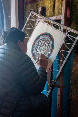 Tibetan painting, Kathmandu, Nepal