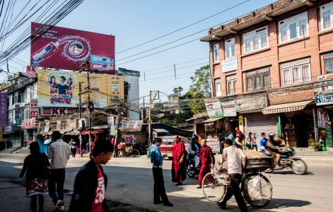 Kathmandu street, Nepal