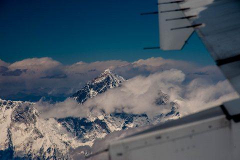 Everest flying from Kathmandu to Paro, Bhutan