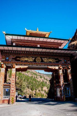 Entrance gateway from India, Chhuzom, Bhutan