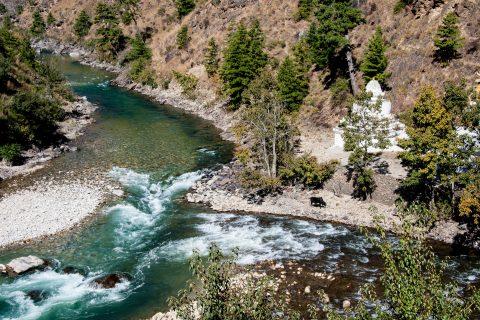 Paro & Thimphu rivers at Chhuzom, Bhutan