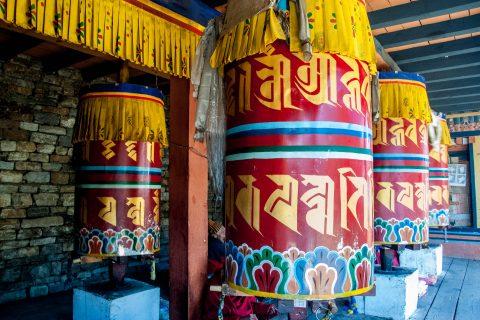 Prayer wheels, Memorial Chorten, Thimphu