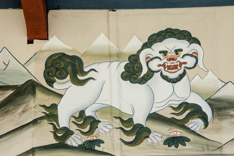 Traditional painting, Thimphu, Bhutan