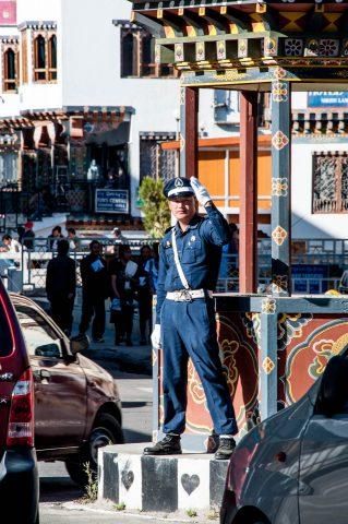 Point duty, Thimphu, Bhutan