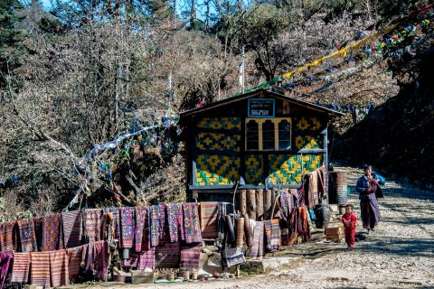 Stall, Pelela Pass, Bhutan