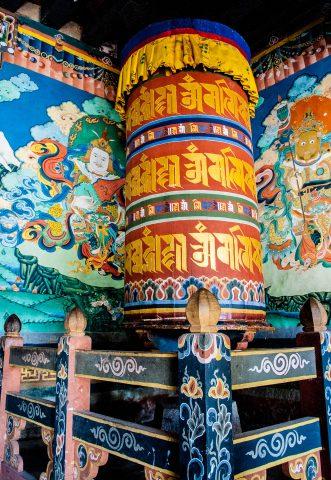 Trongsa Dzong prayer wheel, Bhutan