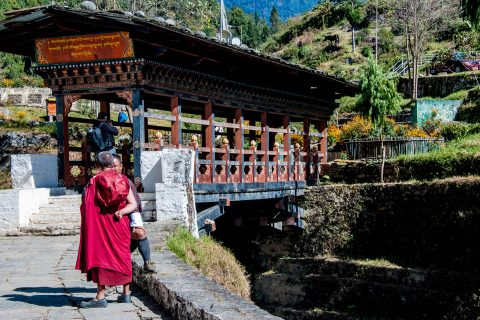 Trongsa Dzong entrance, Bhutan