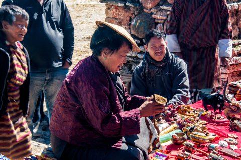 Stalls at The Kurje Monastic Complex, Bhutan