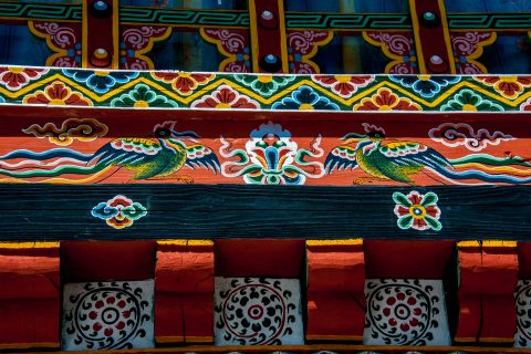 Decoration, Chamkhar, Bhutan