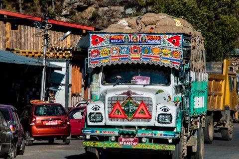 Transport lorry, Chamkhar, Bhutan