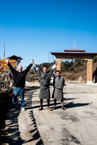 The 3 Boys, Yutongla Pass,, Bhutan
