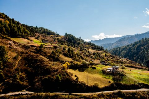View near Chendebji, Bhutan