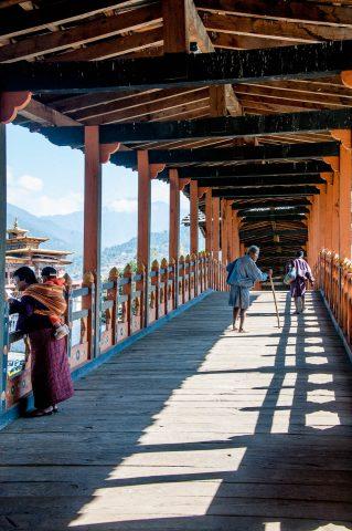 Punakha dzong entrance bridge, Bhutan