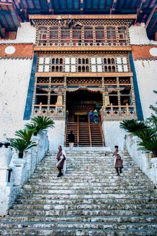 Punakha dzong entrance, Bhutan