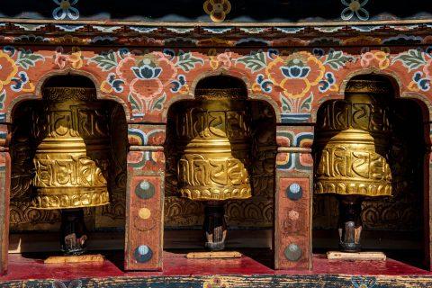Punakha dzong prayer bells, Bhutan
