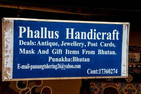 Local shop sign, Punakha, Bhutan