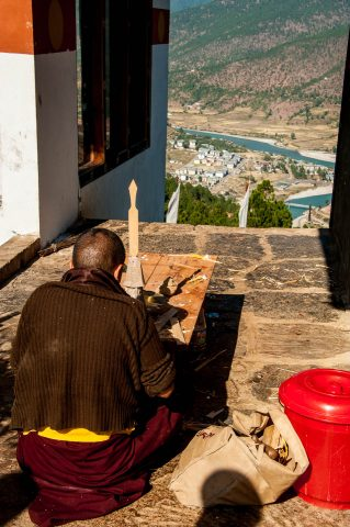 View from Sangchhen Dorji Lhuendrup Nunnery, Punakha, Bhutan