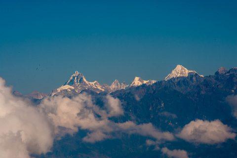 Masang Gang mountain from Dochula Pass, Bhutan
