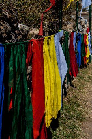 Prayer flags, Kyichu Lhakhang, Paro, Bhutan