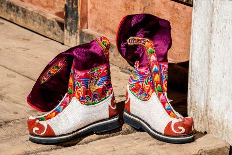 Local boots, Paro, Bhutan