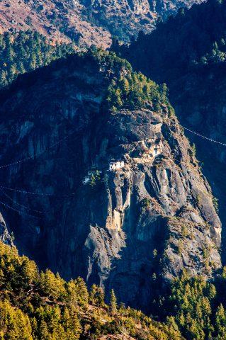 Taktshang Lhakhang from Paro Valley, Bhutan