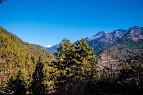 Mount Jomolhari from Drukyel Dzong, Bhutan
