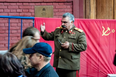 'Ignored' Stalin near Resurrection Gate, Red Square, Moscow